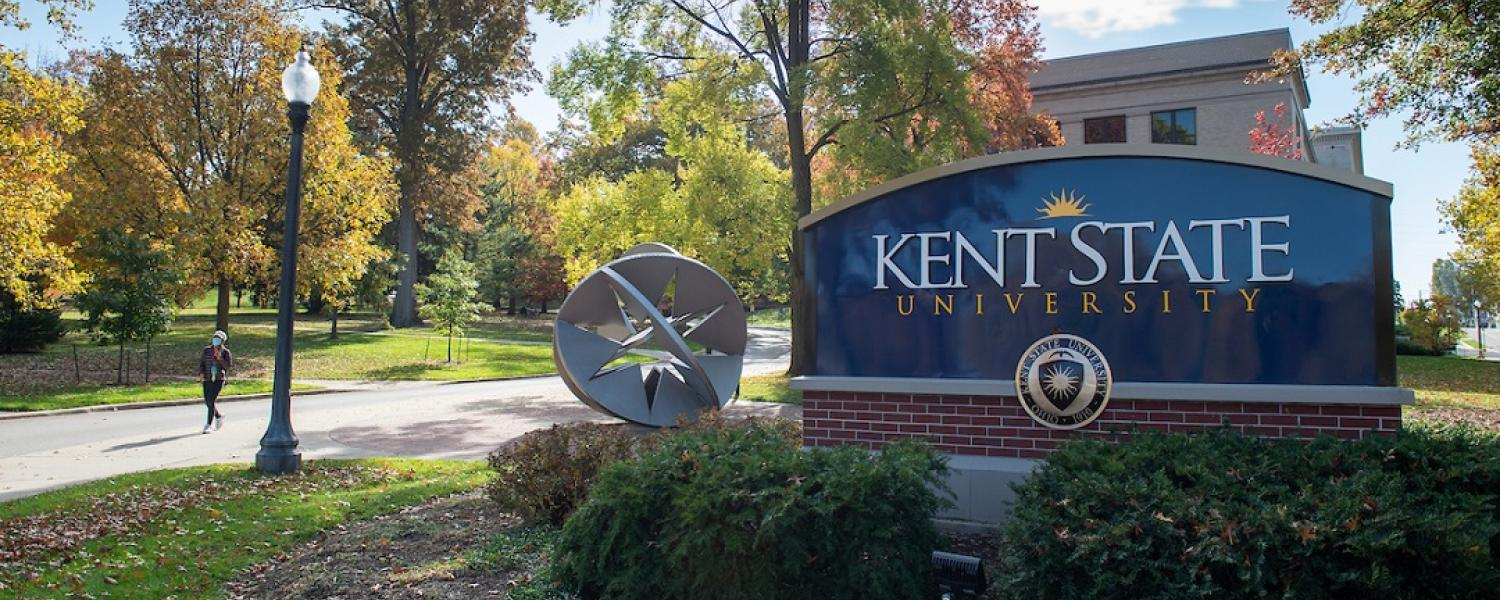 Photo of Kent State University campus by Franklin Hall