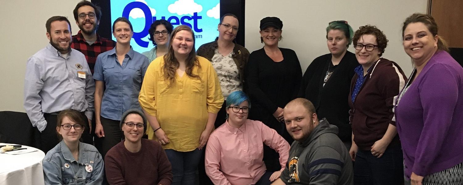 Quest Mentorship group gathers for a picture in 2019