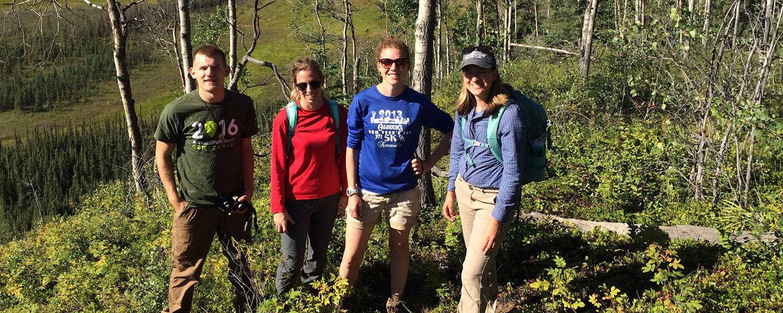 Geology research team in Alaska