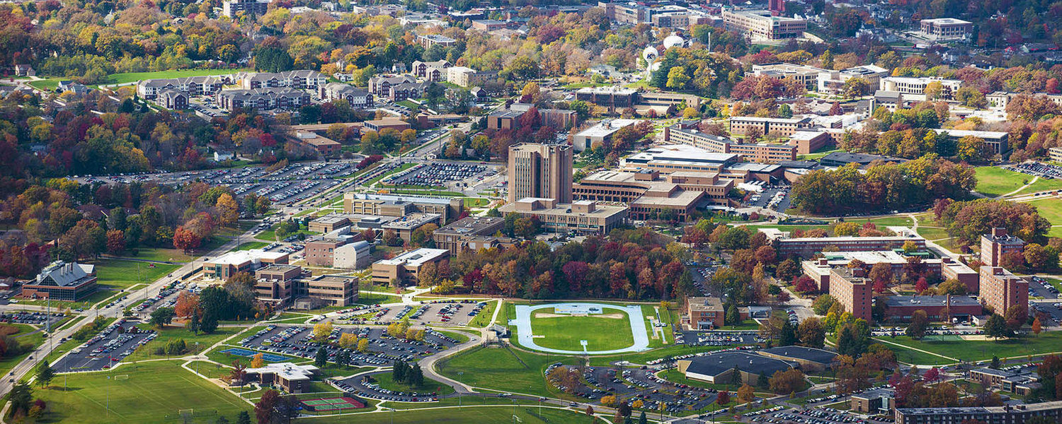 aerial photo of Kent State Campus
