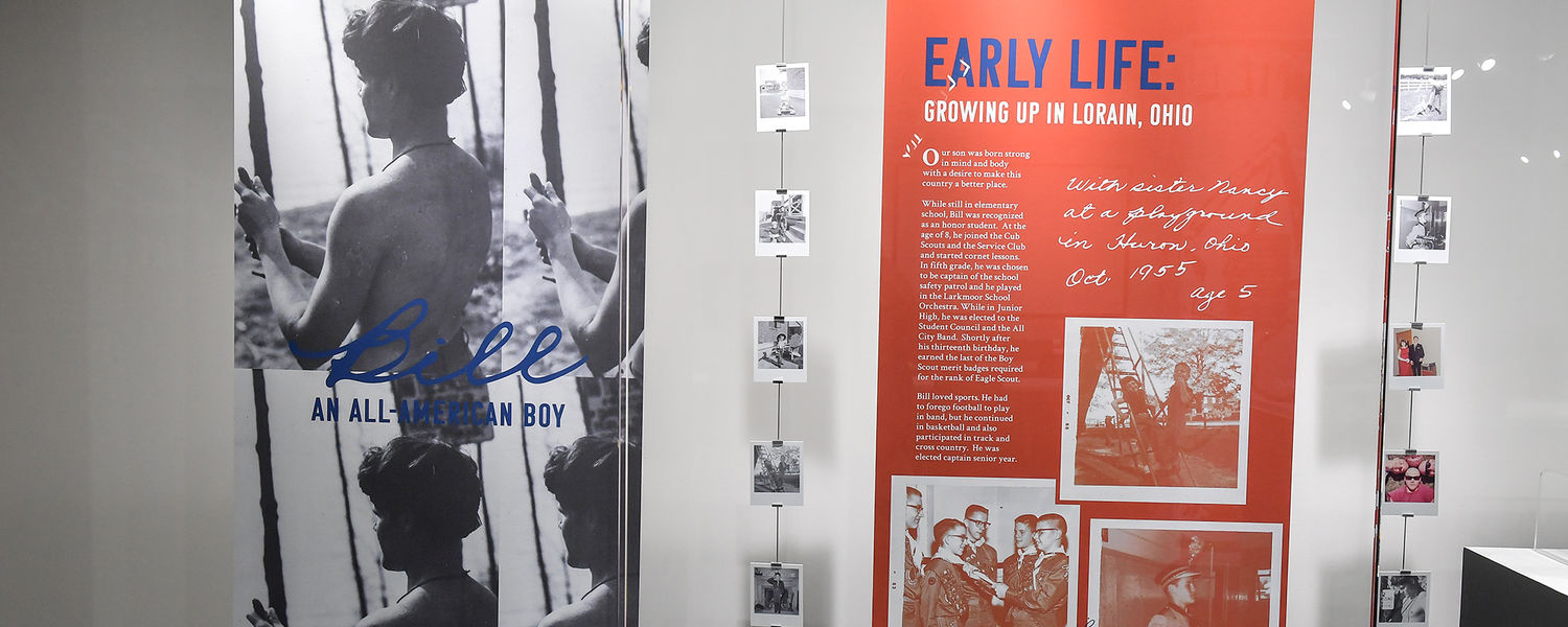 """""""Bill: An All-American Boy,"""" a new exhibition at Kent State University's May 4 Visitors Center, pays tribute to the life of Bill Schroeder."""