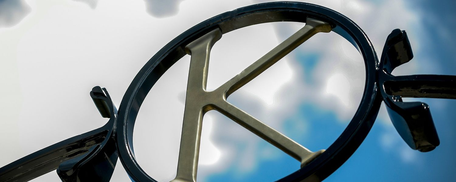 "Photo of the ""K"" atop of Prentice Gate"