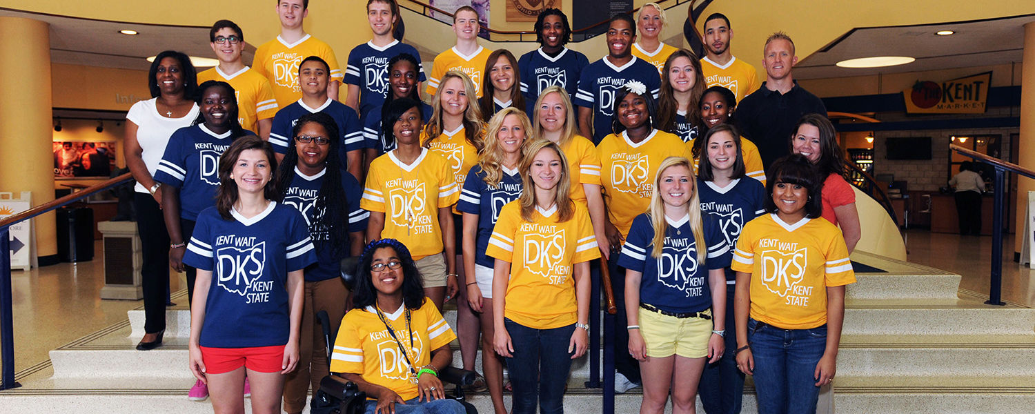 Flashguides, a group of diverse and fun-loving students, serve as mentors to new students during the Destination Kent State advising and registration program. Twenty-two students make up this year's Flashguides class