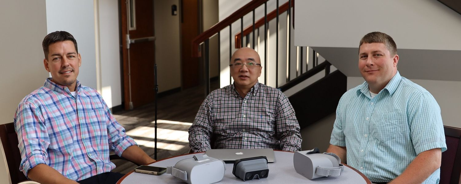 Kent State University researchers (from left to right) Richard Ferdig, Ph.D., Cheng Chang Lu, Ph.D., and Karl Kosko, Ph.D., have received a three-year, $1.48 million grant from the National Science Foundation to apply a novel video technology to train fut