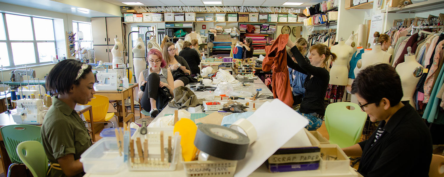 """The crew at Kent State's Costume Shop are hard at work creating costumes for Porthouse Theatre's production of """"9 to 5."""""""