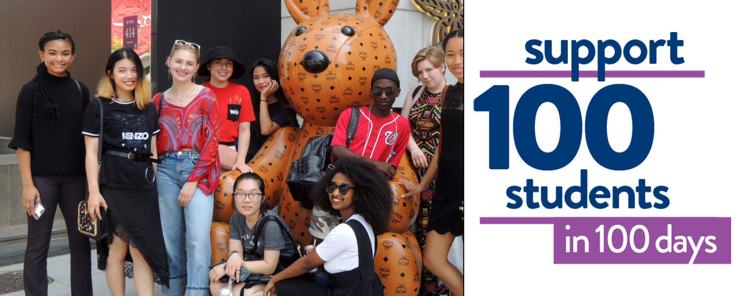 Support 100 students in 100 days - students in South Korea at MCM
