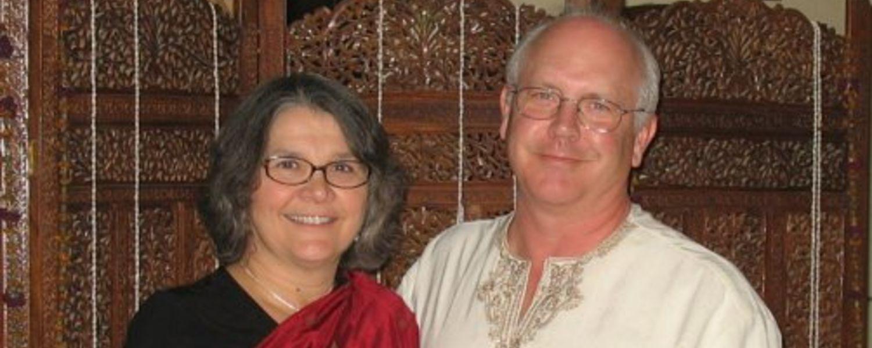 Rebecca with her husband, Eric, in Mungeli, Chhattisgargh India.