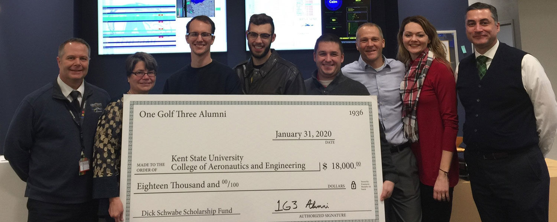 Aeronautics Alumni Donate $18,000 to CAE