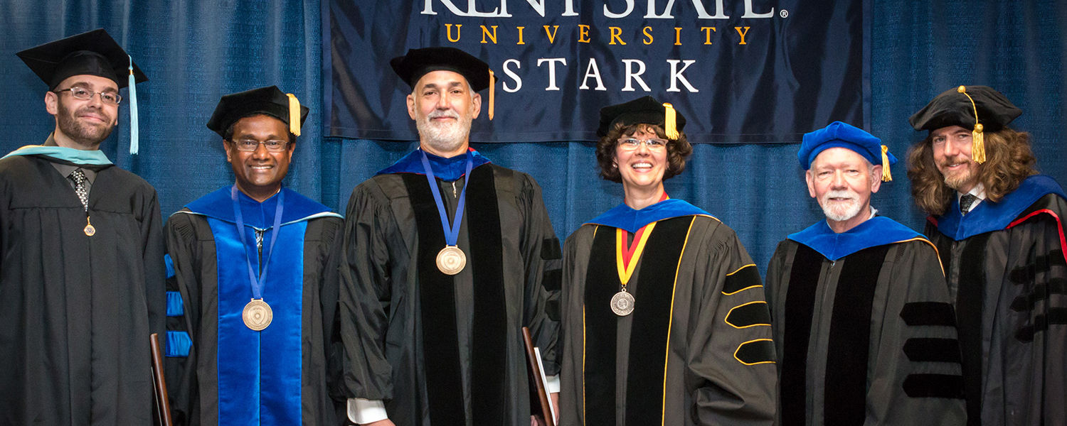 Exceptional faculty were honored during Kent State University at Stark's Spring Commencement Ceremony.