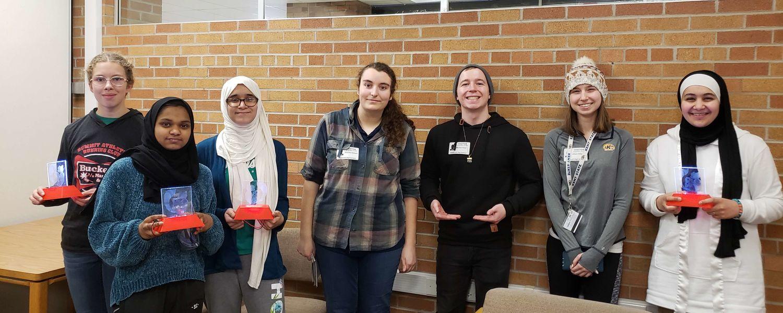 Mike Reed, Samantha Battaglia and Jillian Eddy (Kent State Students)