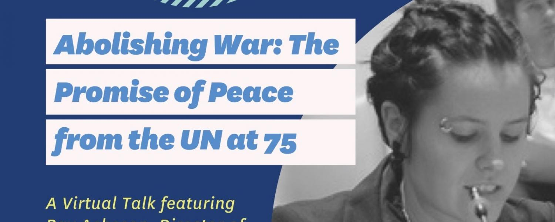 Abolishing War event