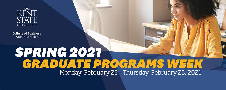 Graduate Programs Week Spring 2021