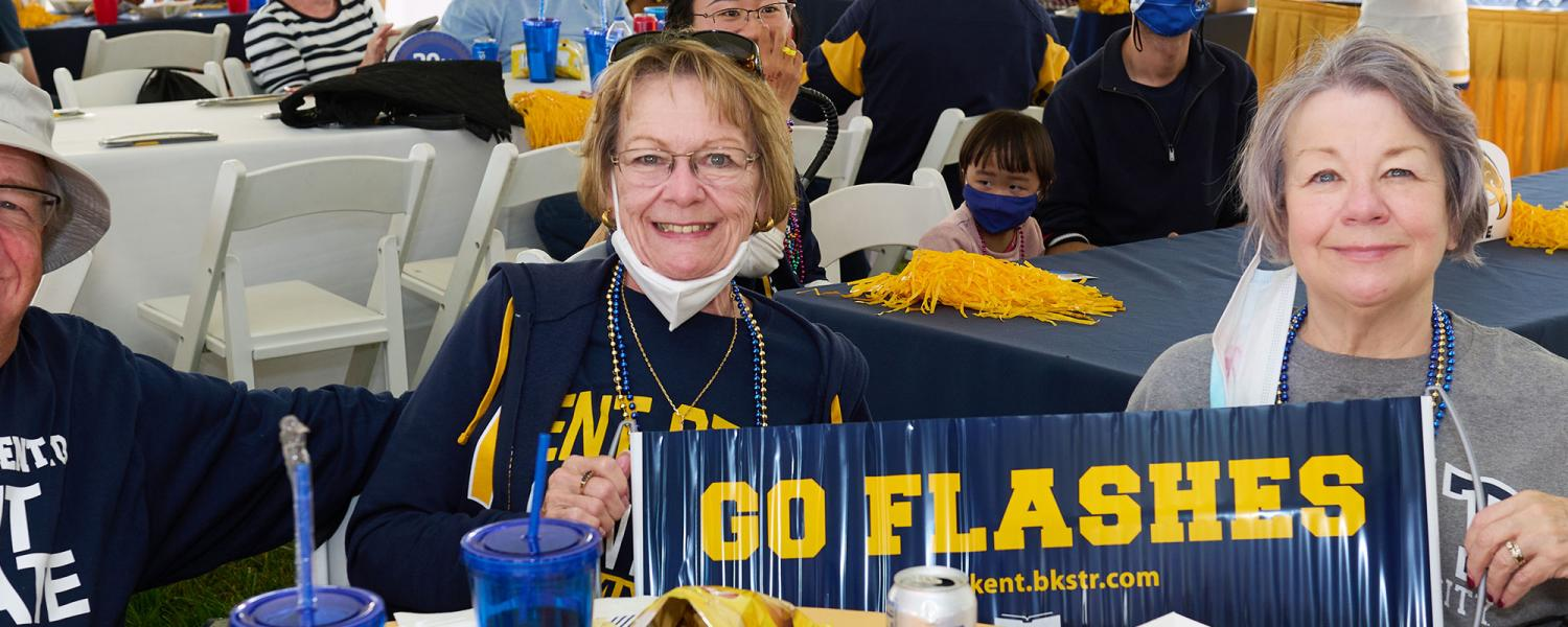 Alumni and friends gathered for the Flash Nation Tailgate before the game at Dix Stadium.