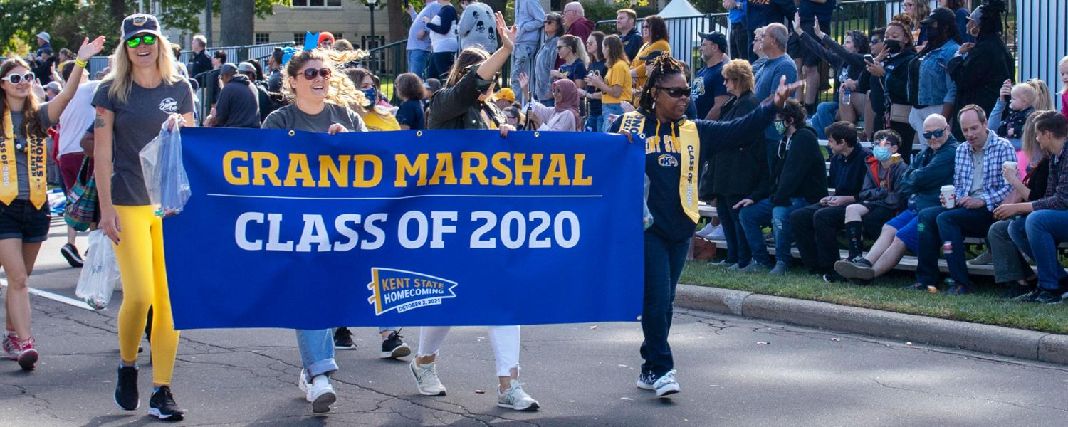 The Homecoming Parade began at 10:30 a.m. on Oct. 2 on the corner of Midway Drive and Main Street, traveling west on Main Street into downtown Kent.