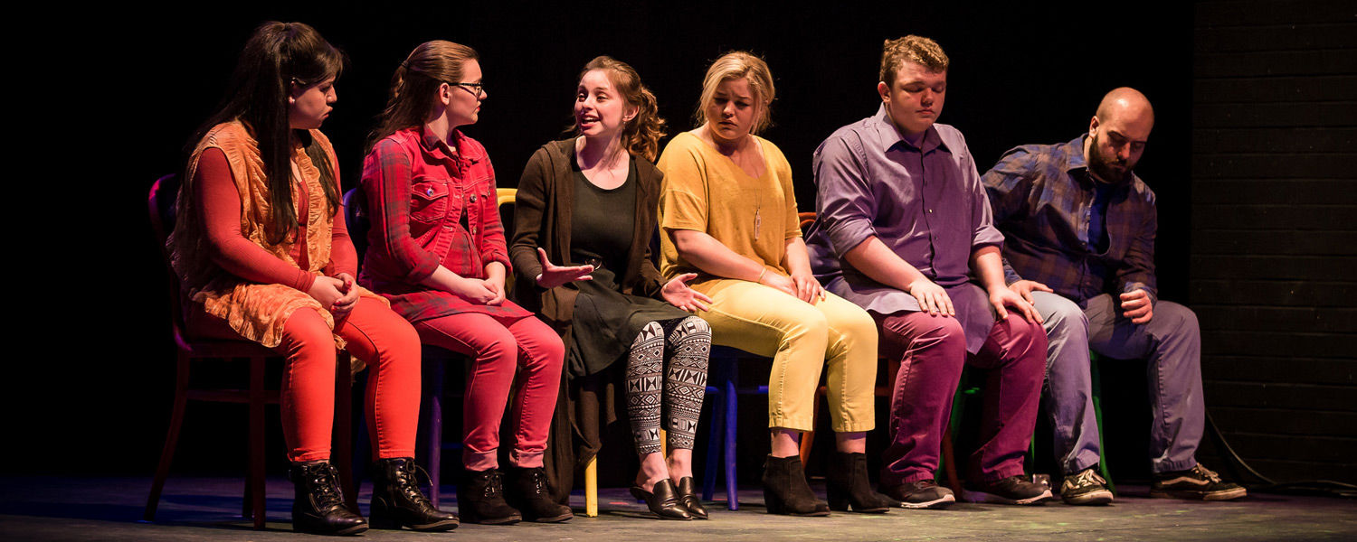 """Kent State Stark Theatre holds its final production of the academic year, """"26 Pebbles"""", a docudrama that incorporates verbatim interview excerpts from Newtown, Connecticut, residents recounting the 2012 Sandy Hook Elementary School shooting."""
