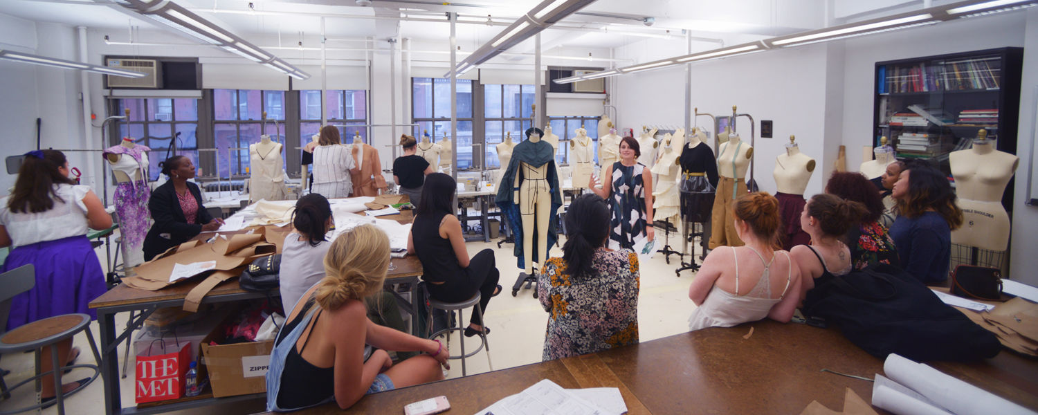 A classroom of students at The NYC Studio