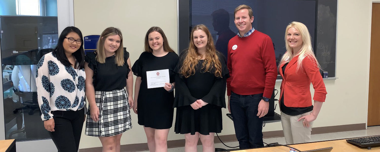 The winning team  from the Spring 2019 Target Case Study