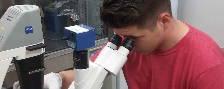 Cody in lab