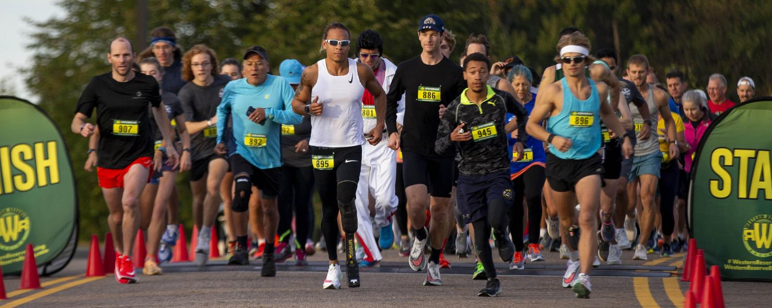 Racers compete in the annual Bowman Cup 5K Walk/Run during Kent State's Homecoming.