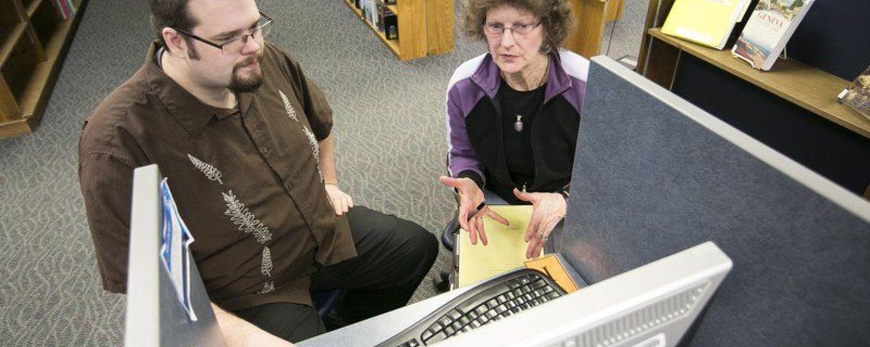 Kent State Ashtabula student Dan Scott provides free computer education classes through an AmeriCorps education program