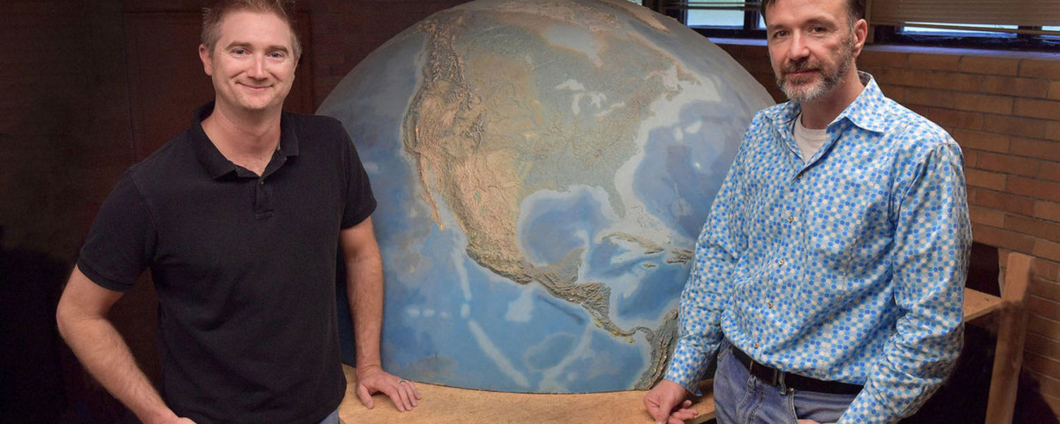 Cameron Lee (left) and Scott Sheridan from Kent State University's Department of Geography team up to secure two research grants to study climate change and weather patterns.