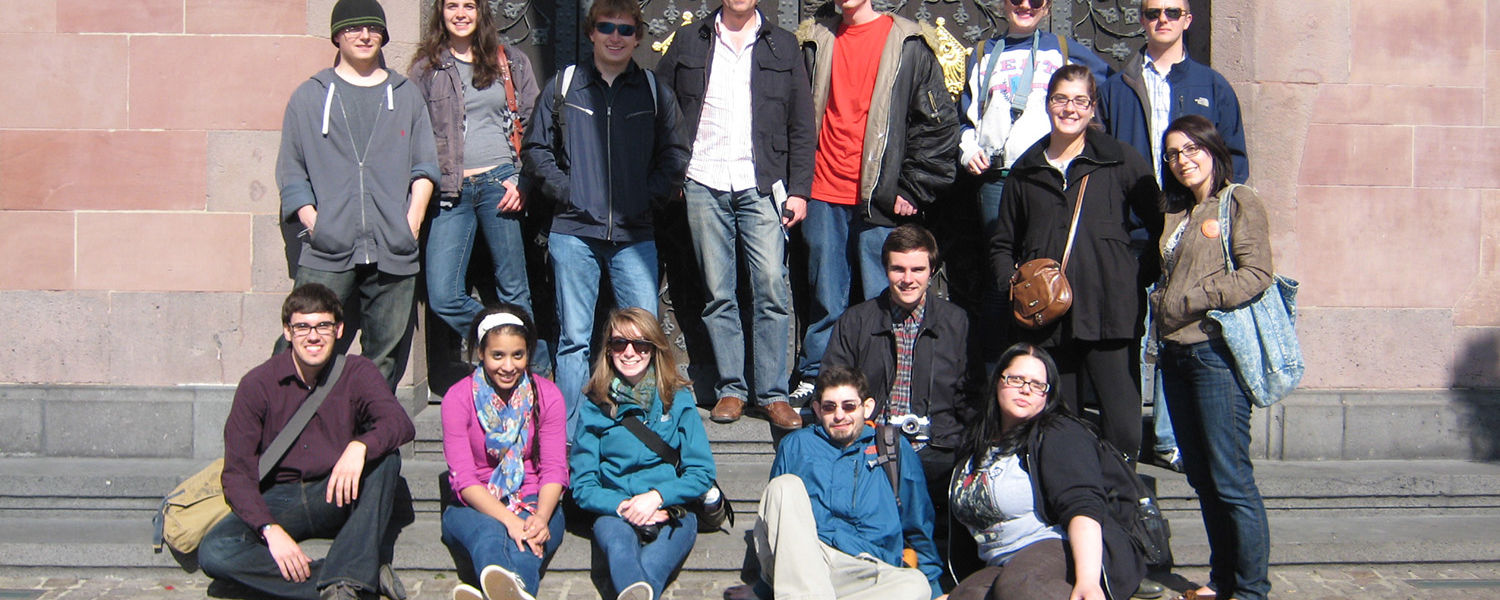 A group of Kent State University students traveled to Germany for a three-week education abroad program. The trip offered the students the opportunity to learn about German politics and history. (Photo provided by Richard Steigmann-Gall)
