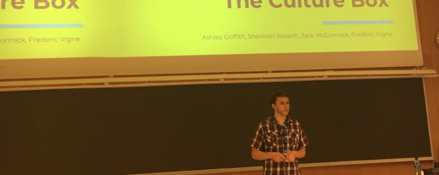 Jack McCormick presents Culture Box at the conference