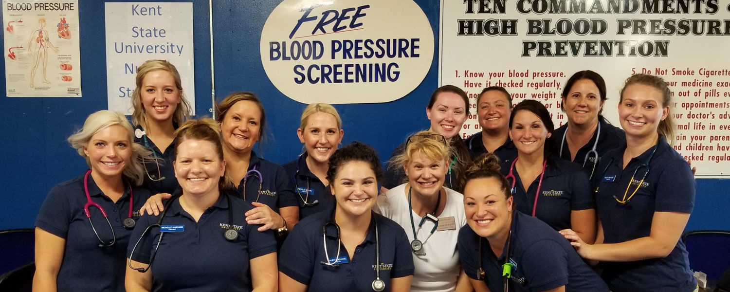 Kent State University at East Liverpool ADN Nursing students at Canfield Fair 2018