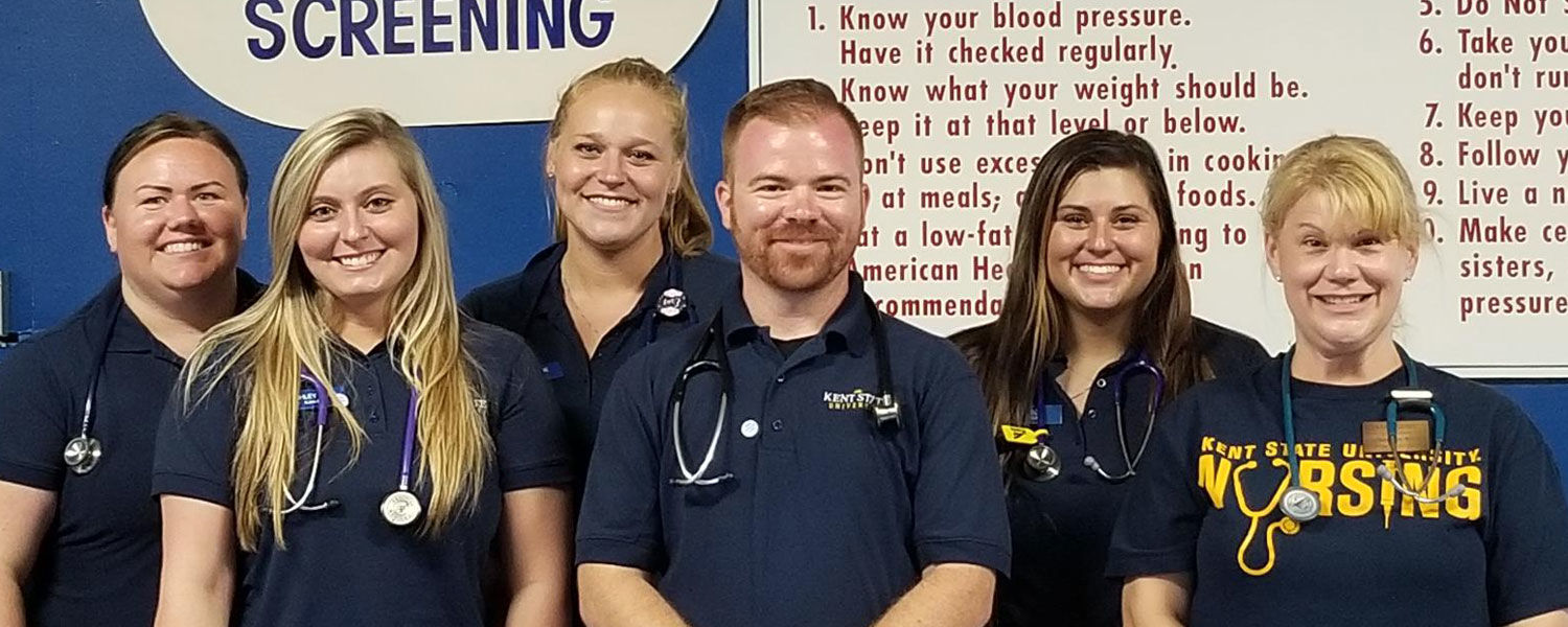 Participating in the outreach effort were (front, from left) Britni Boston, Ashley Deer, Erin Reese, Ray Mills, Haleigh Vallas and Angela Douglass.