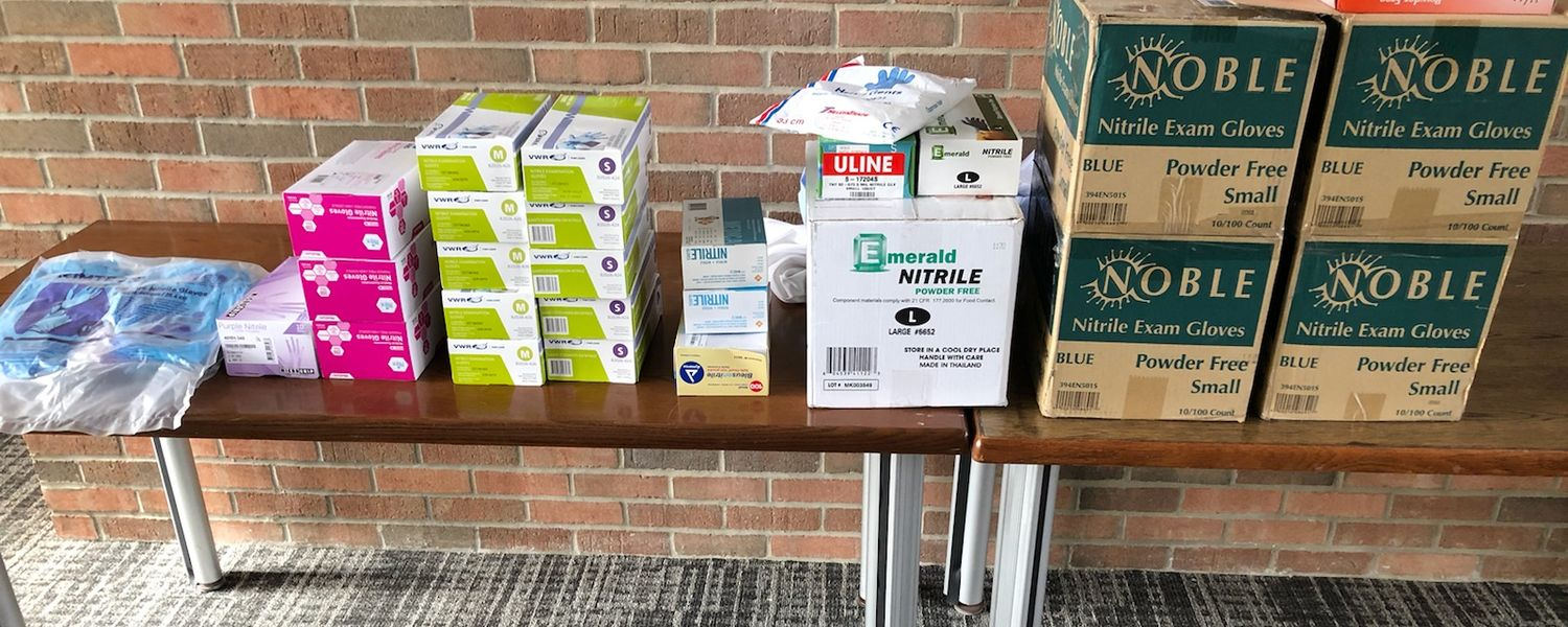 Advanced Materials and Liquid Crystal Institute shows its PPE donation.