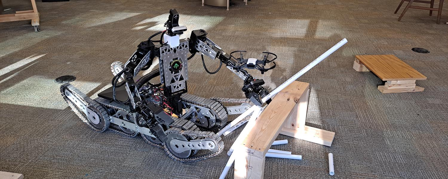 Telebot-3R designed by the Advanced Telerobotics Research Lab in the Department of Computer Science at Kent State University was named a finalist in the World Robot Summit