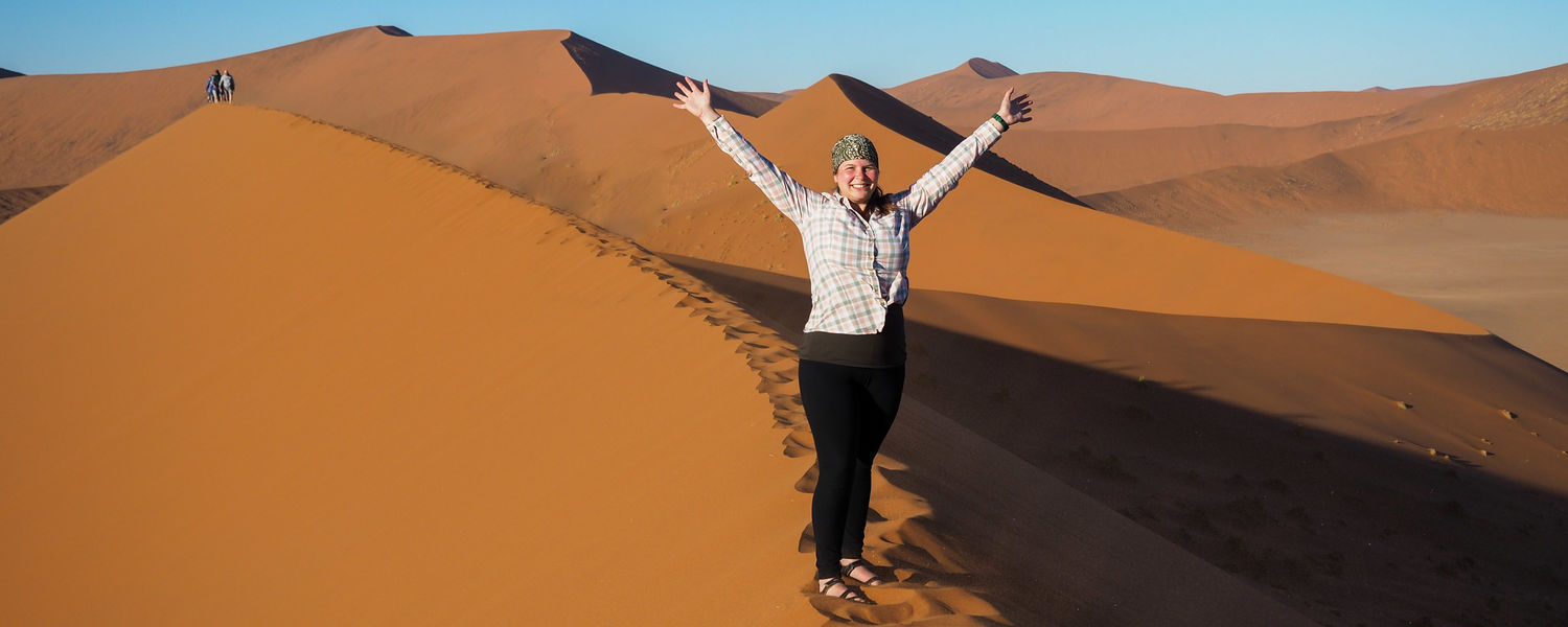 Amanda in Namibia