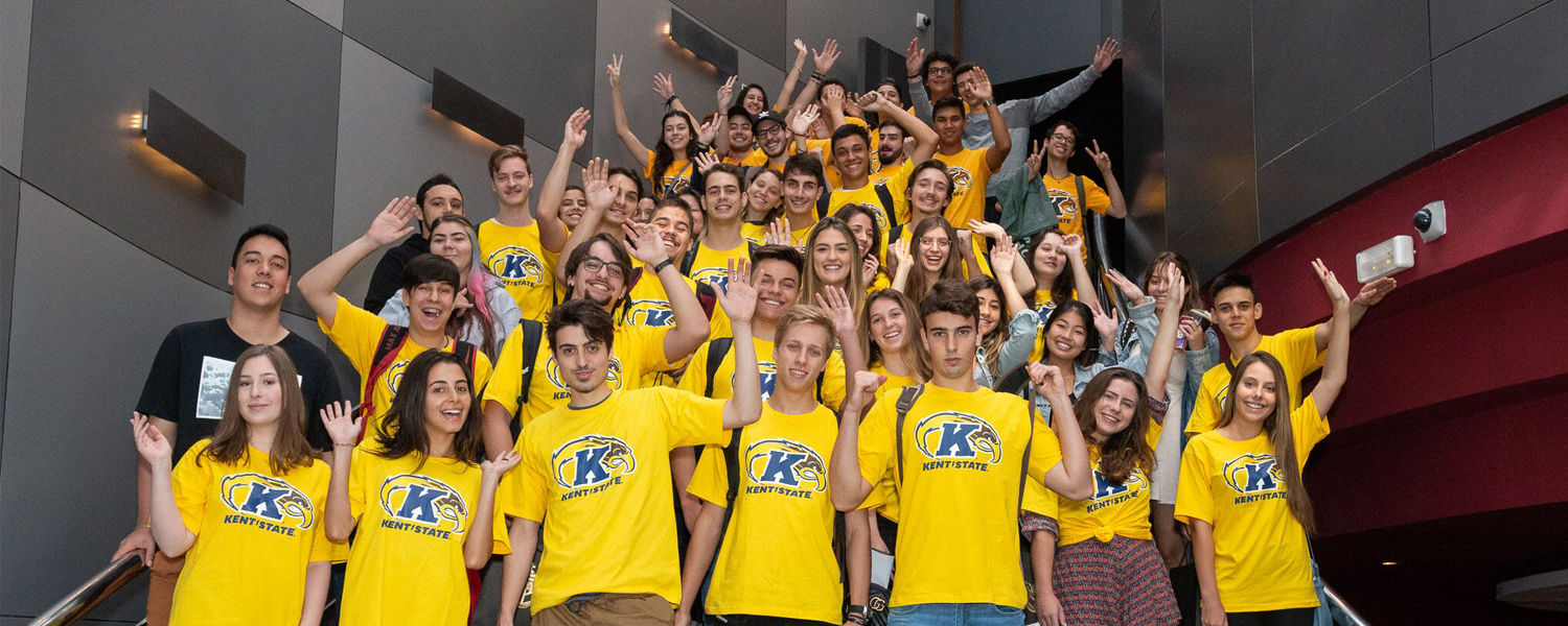 Students from Kent State University's American Academy in Curitiba, Brazil.
