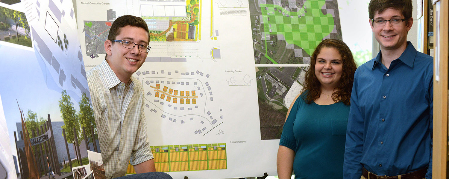 Students from Kent State's College of Architecture and Environmental Design presented 11 proposals reimagining Garrettsville following a fire that swept through the historic downtown commercial area.