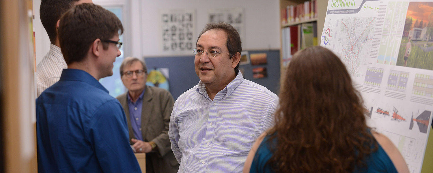 Adil Sharag-Eldin, Ph.D., associate professor of architecture at Kent State, helped students create 11 proposals reimagining Garrettsville following a fire that swept through the historic downtown commercial area.