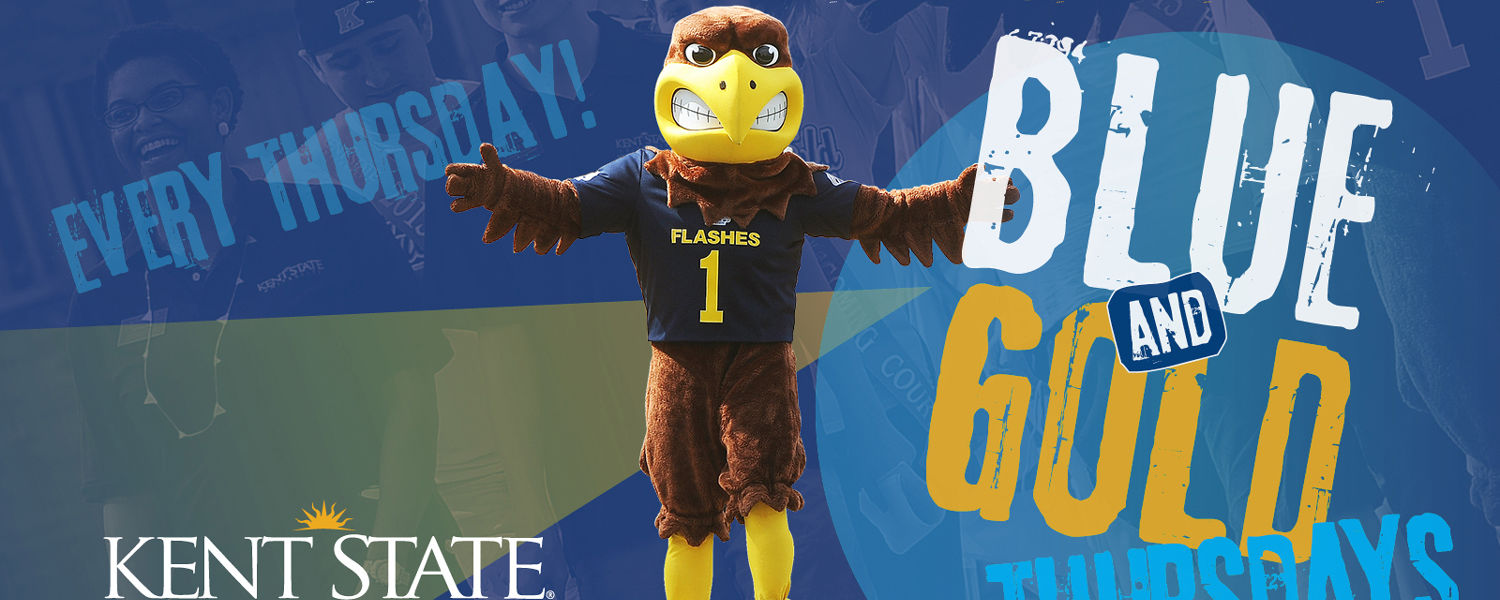 Show your Kent State pride by dressing in blue and gold on Thursdays at the Stark Campus.