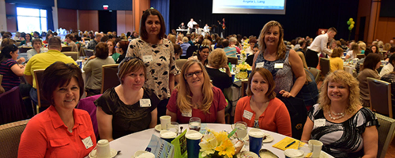 Office Support Staff Recognition Luncheon 2017- Lucy, Tina, Rena, Julie , Elizabeth, Rhonda,Donna