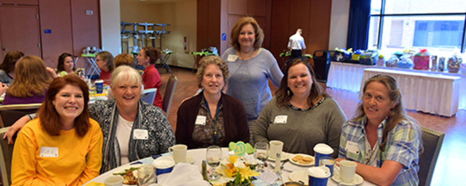 Office Support Staff Recognition Luncheon 2017- Gail, Penny, Jamie, Sam, Tiffany, Laurel