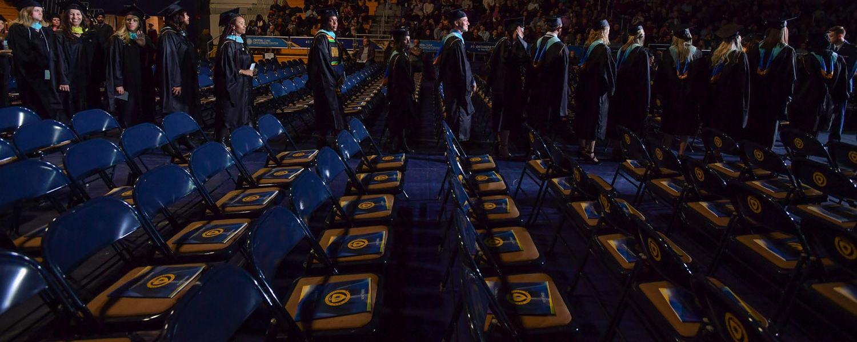 Graduates entering the MAC Center