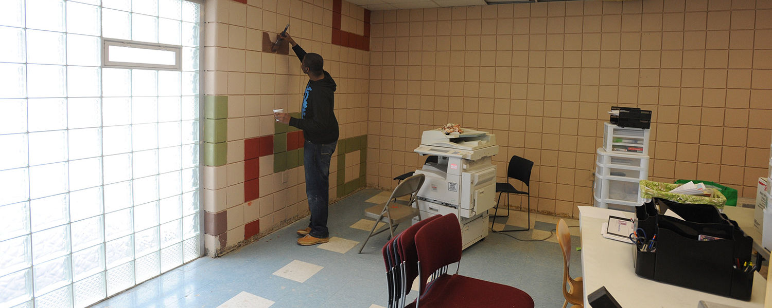 Freshly painted walls are just a part of the update to the King Kennedy Community Center.