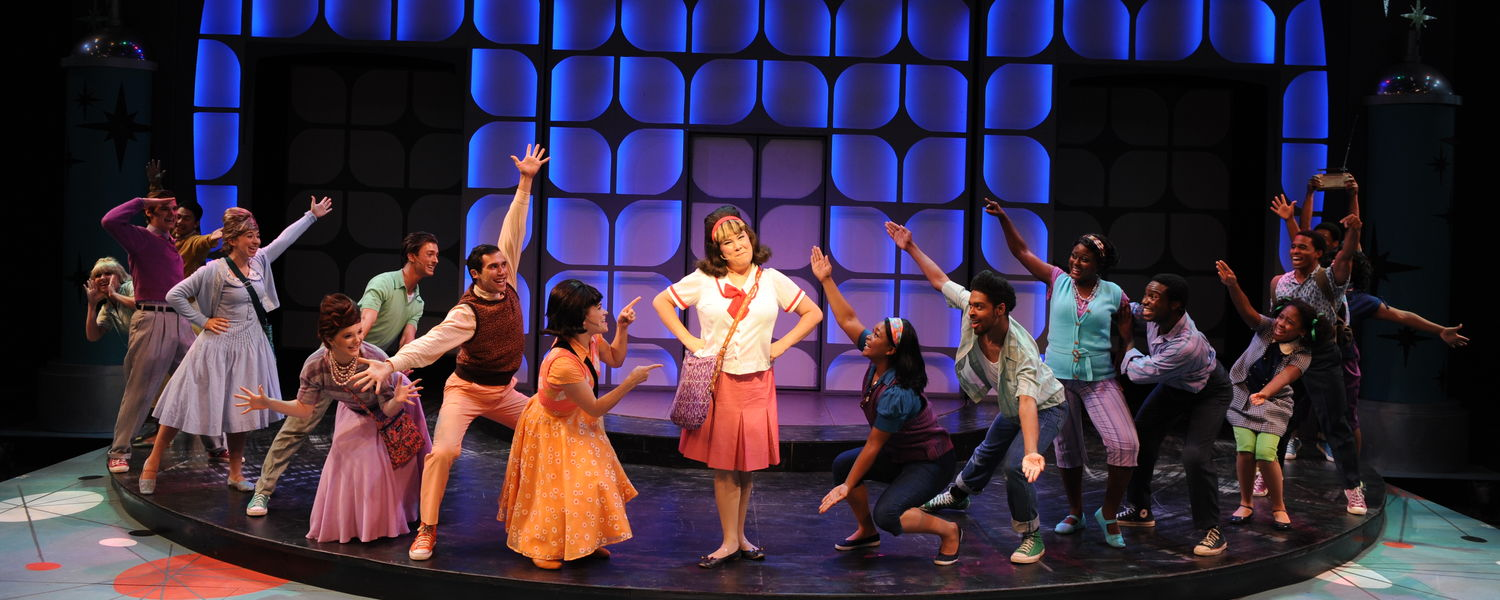 "Members of the 2015 Porthouse company perform in ""Hairspray"""
