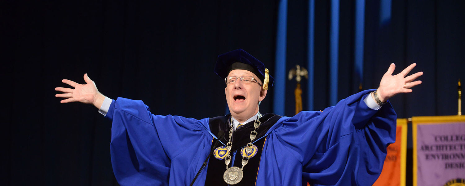 Dr. Lester A. Lefton welcomes graduates and their families