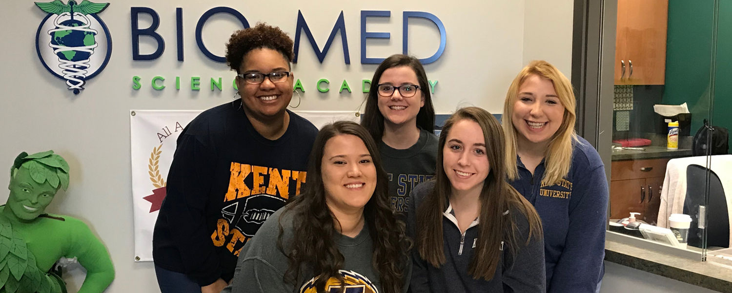 Kent State University public relations students (left to right) Arkayla Tenney-Howard, Ashley Purnell, Molly Spillman, Samantha Ross and Abigail Winternitz are finalists in the national Bateman Case Study Competition.