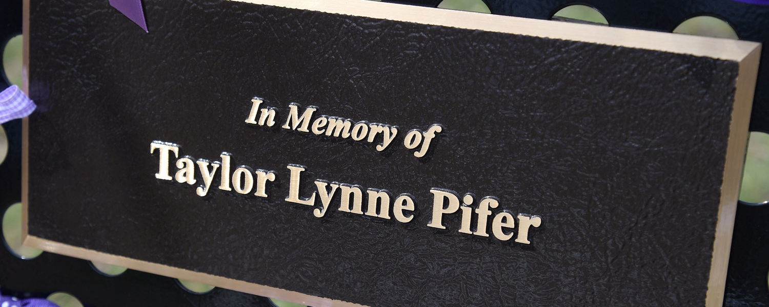 Friends of Taylor Pifer raise funds for a scholarship and memorial plaque in her memory.