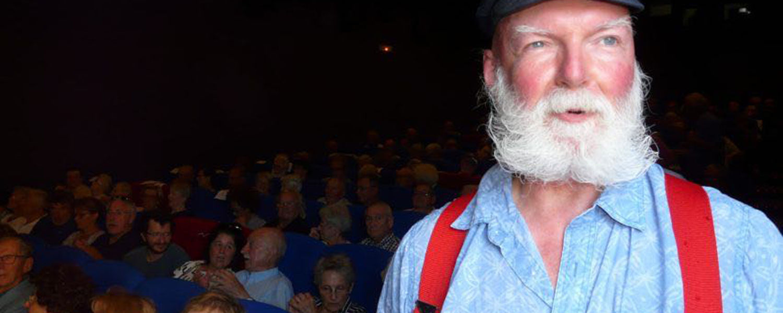 Richard Berrong Inside the Cinébreiz Movie Theater in Paimpol, France
