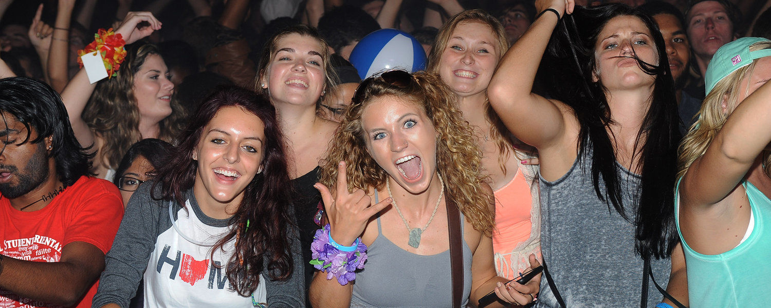 Kent State students enjoy the music and the laser light show at Blastoff, the annual back-to-school celebration that occurs the day before fall classes begin.