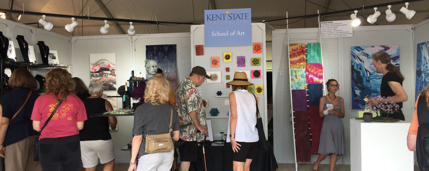 Kent State Art Students Sell Work At Boston Mills Artfest Kent State University