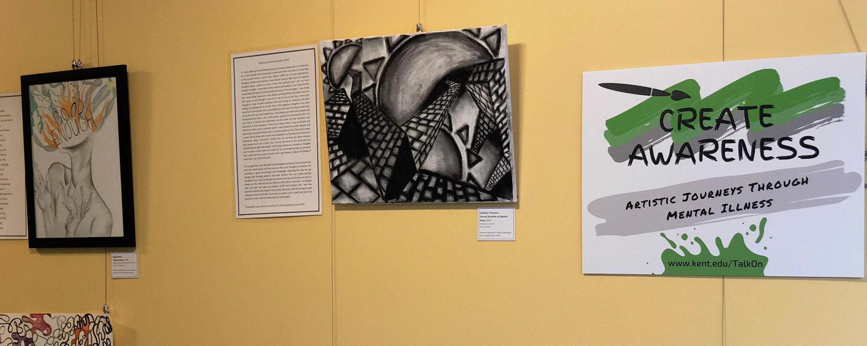 Pieces in the Create Awareness Exhibit