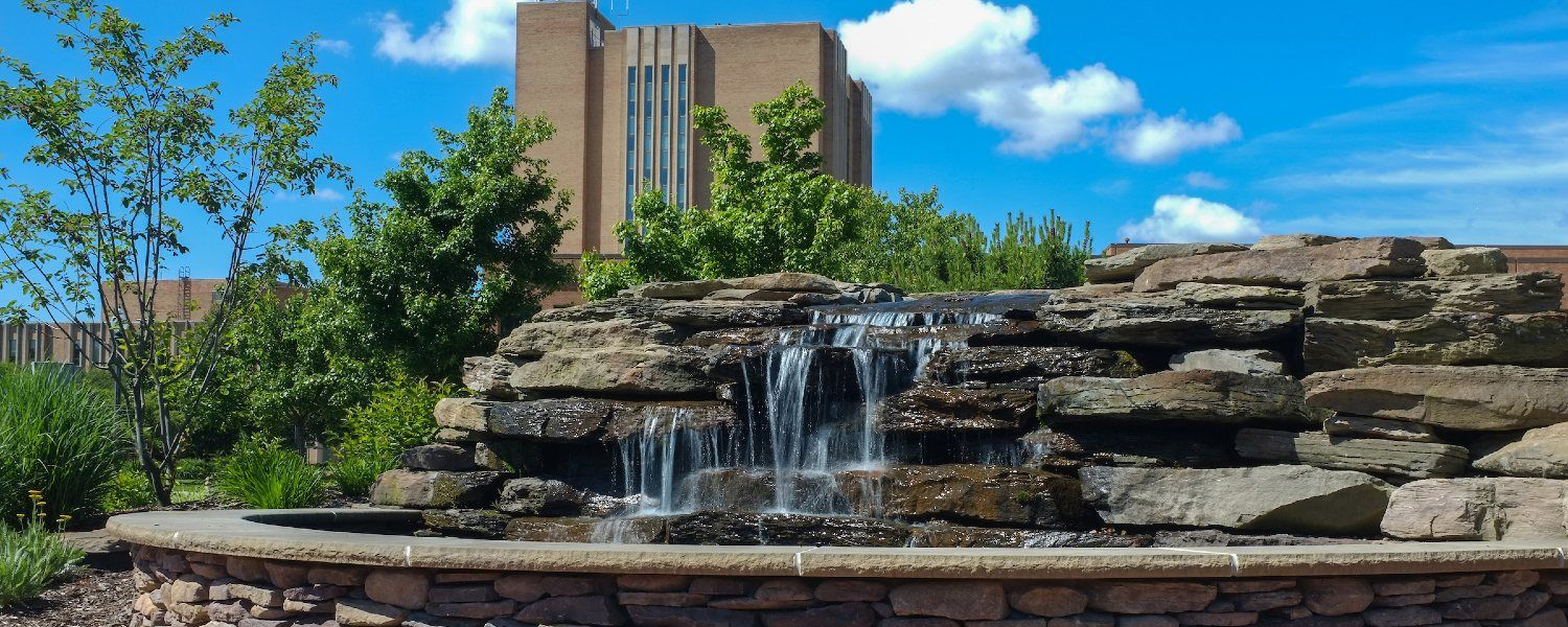Fountain on Kent State Campus