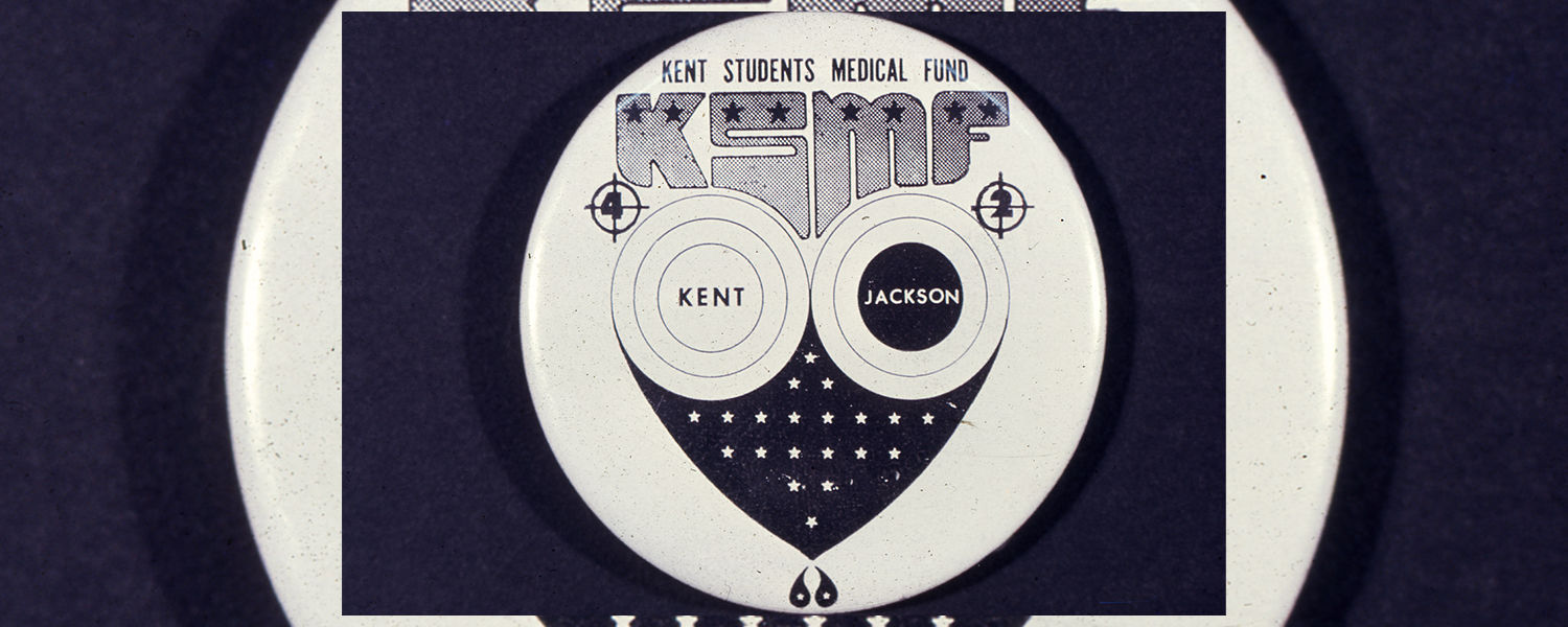 button created by Jerry Casale - Kent Students Medical Fund